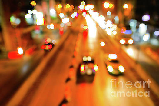 Blurred of car by Pongsak Deethongngam