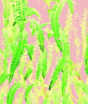 Blush Green Glow by Uma Gokhale