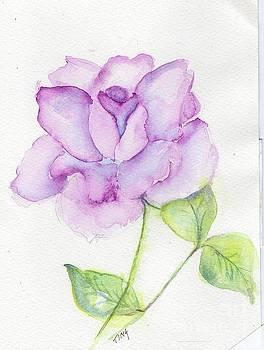 Blushing Rose by Doris Blessington