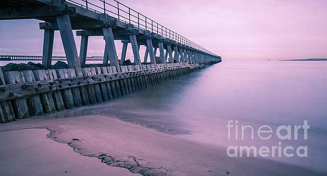 Blyth Beach and Pier #3 by John Cox