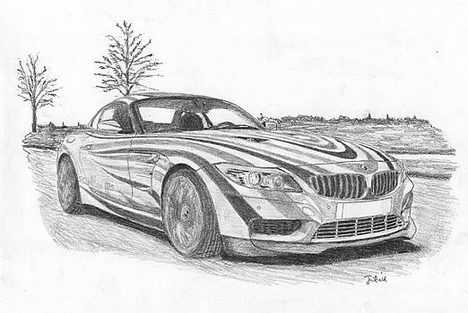 BMW sport car. by Kokas Art