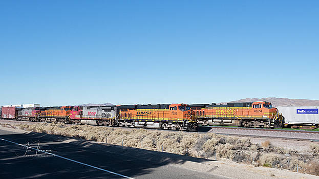 BNSF7296, BNSF4674 and BNSF4237 by Jim Thompson