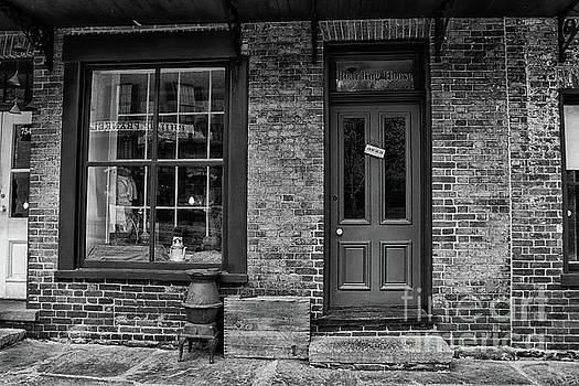Boarding House Open Black and White by Karen Adams