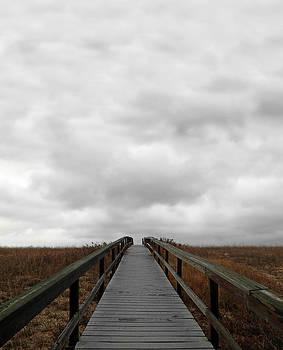 Boardwalk and Ominous Sky by Brooke T Ryan