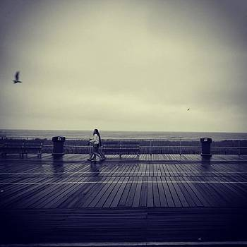 Boardwalk Rain. #blackandwhite #ocnj by Jeff Jones