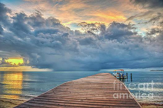 Boardwalk Sunrise Rain Clouds by David Zanzinger
