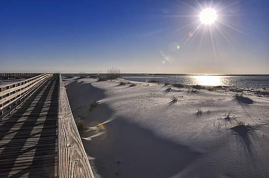 Boardwalk to the Gulf by Gej Jones