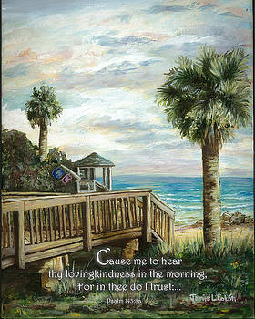 Boardwalk With Lifeguard Psalm 143 by Janis Lee Colon