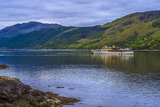 Boat Anchored On Loch Duich by Steven Ainsworth