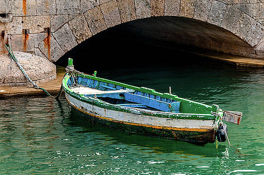Boat And Bridge Syracuse Sicily by Xavier Cardell