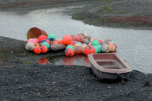 Boat and Buoys by Michelle Halsey