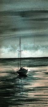 Boat at Sea by Michael Vigliotti