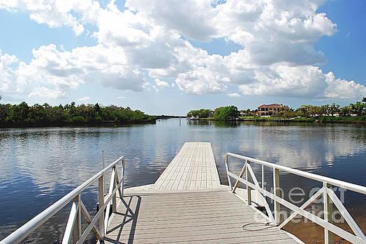Gary Wonning - Boat Dock on Lake