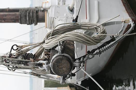 Boat docked in St. Michael by Karen Fowler