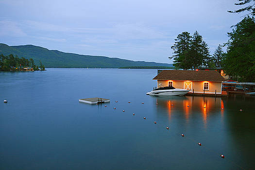 Boat House at Twilight by Norman Drake