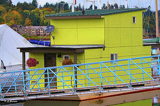 Boat House In Olympia  by Tom Janca
