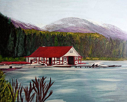 Boat House by Judy Huck