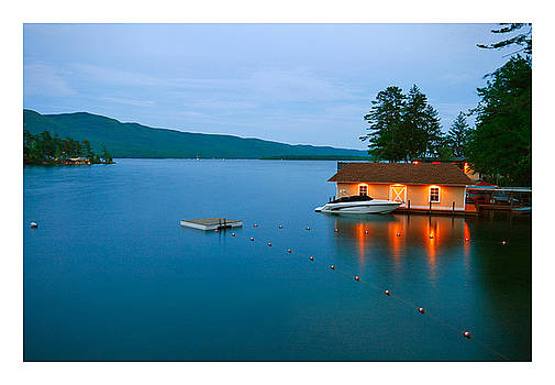 Boat House on Lake Gearge by Norman Drake