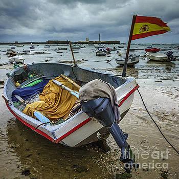 Boat in Low Tide La Caleta Cadiz Spain by Pablo Avanzini