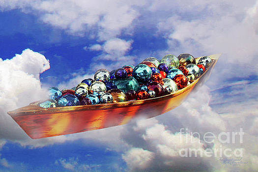 Boat in the clouds by Inspirational Photo Creations Audrey Woods