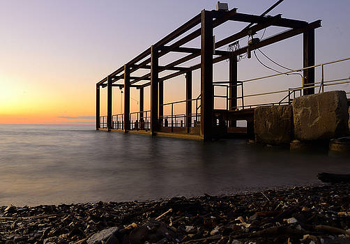 Boat Launch Sunset by J Austin