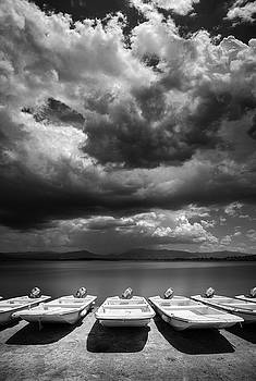 Boat Line at Lake Henshaw by William Dunigan