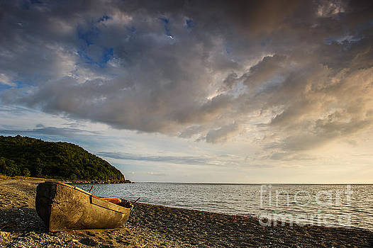 Boat On A Beach - St. Thomas - Jamaica by Marc Evans