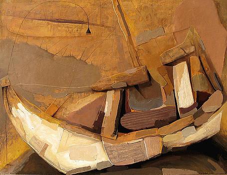 Boat On A Land by Vakho Kakulia