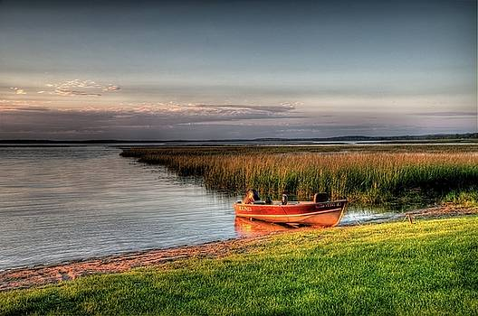Boat on a Minnesota Lake by Dave Rennie