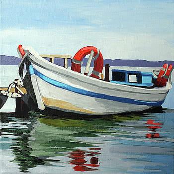 Boat on a River by Melinda Patrick