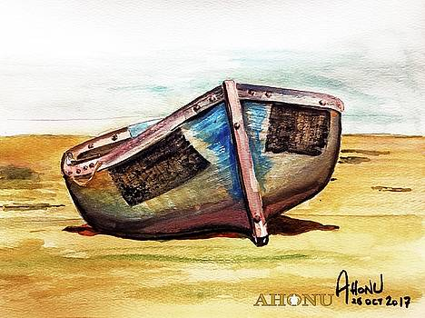 Boat on Beach by Ahonu
