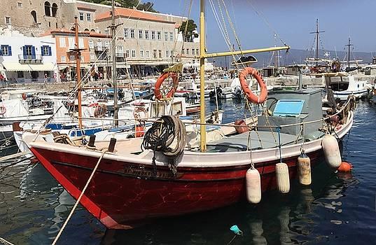 Boat on Hydra by Leslie Brashear