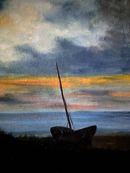 Boat On Shore by Zak Eissa