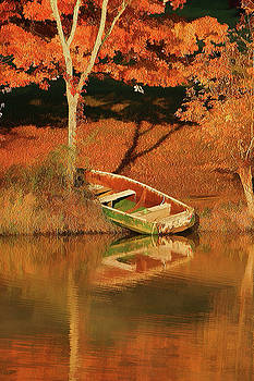 Boat on the Lake - Painted by Ericamaxine Price