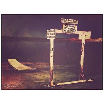 Boat Ramp #lake #night #sign by Judy Green