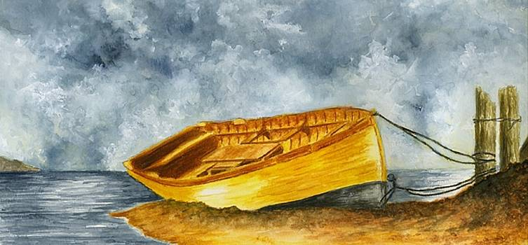 Boat Tied to The Post by Michael Vigliotti