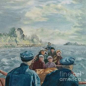 Boat Trip on the Rapids by Laurel Anderson-McCallum