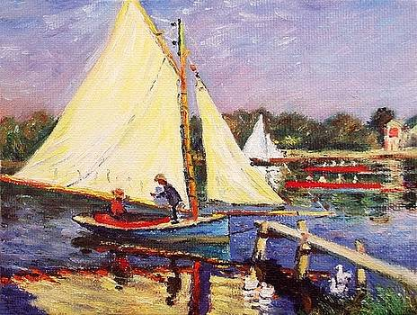 Boaters at Argenteuil by Peter Kupcik