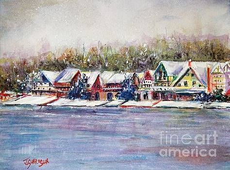 boathous Row Winter by Joyce A Guariglia