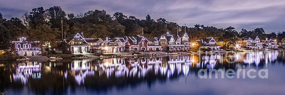 Boathouse Row Night Blue by Stacey Granger