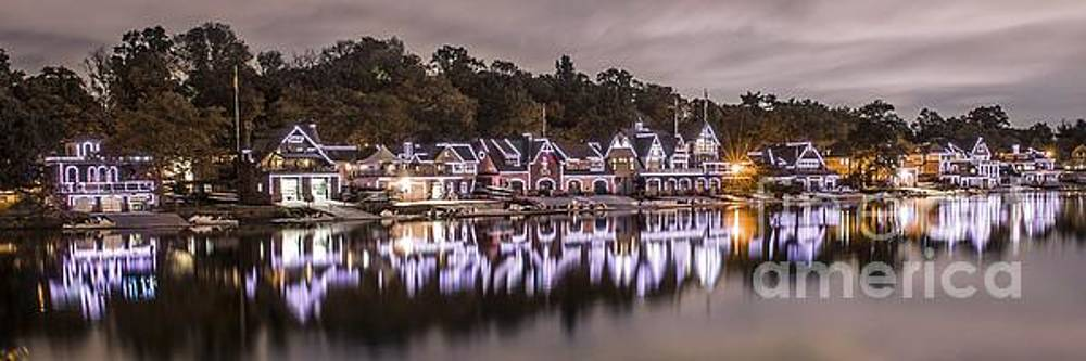 Boathouse Row Night by Stacey Granger