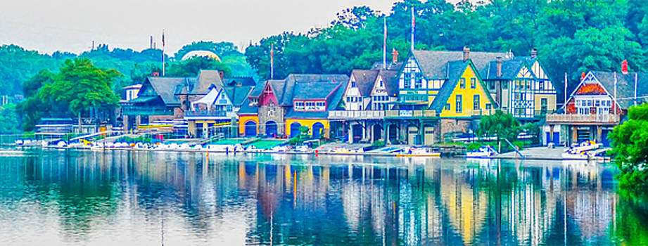 Boathouse Row on the Schuylkill River in Philadelphia by Bill Cannon