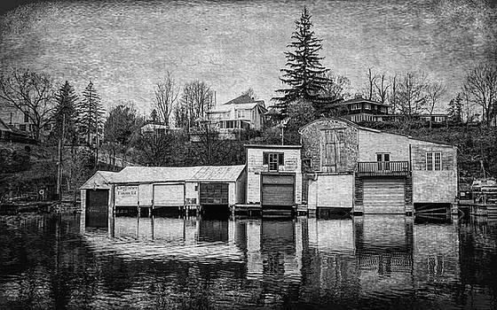 Andrew Wilson - Boathouses in Black and White