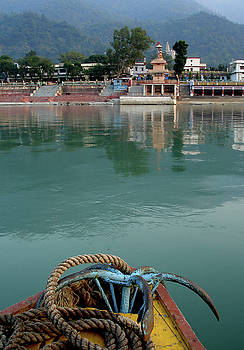 Boatride across the river Ganga at Rishikesh, India by Misentropy