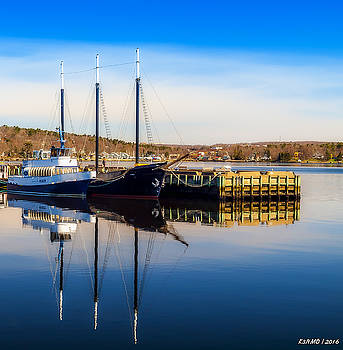 Boats at Bedford Waterfront by Ken Morris