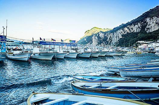 Boats at Capri by Jaana Baker