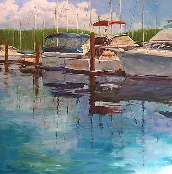 Boats at Dock by Mary McInnis