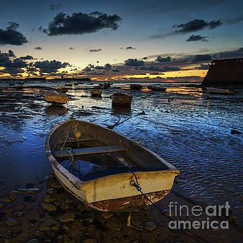 Boats at Dusk La Caleta Cadiz Spain by Pablo Avanzini