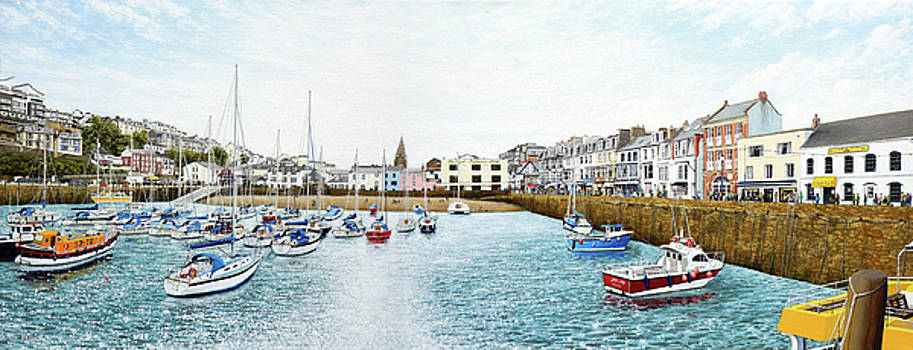 Boats at Ilfracombe Harbour by Mark Woollacott