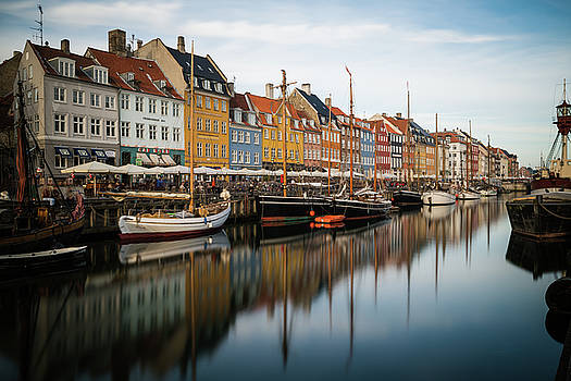 Boats at Nyhavn in Copenhagen by James Udall